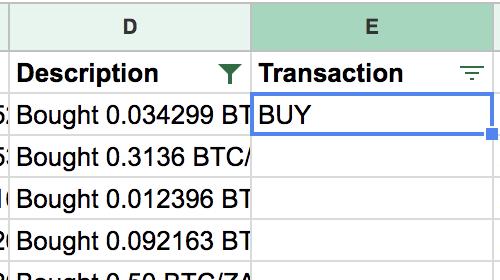 BUY transactions