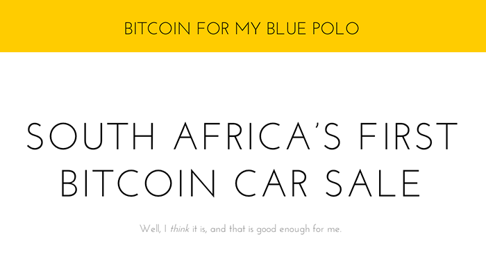 Bitcoin for my Blue Polo