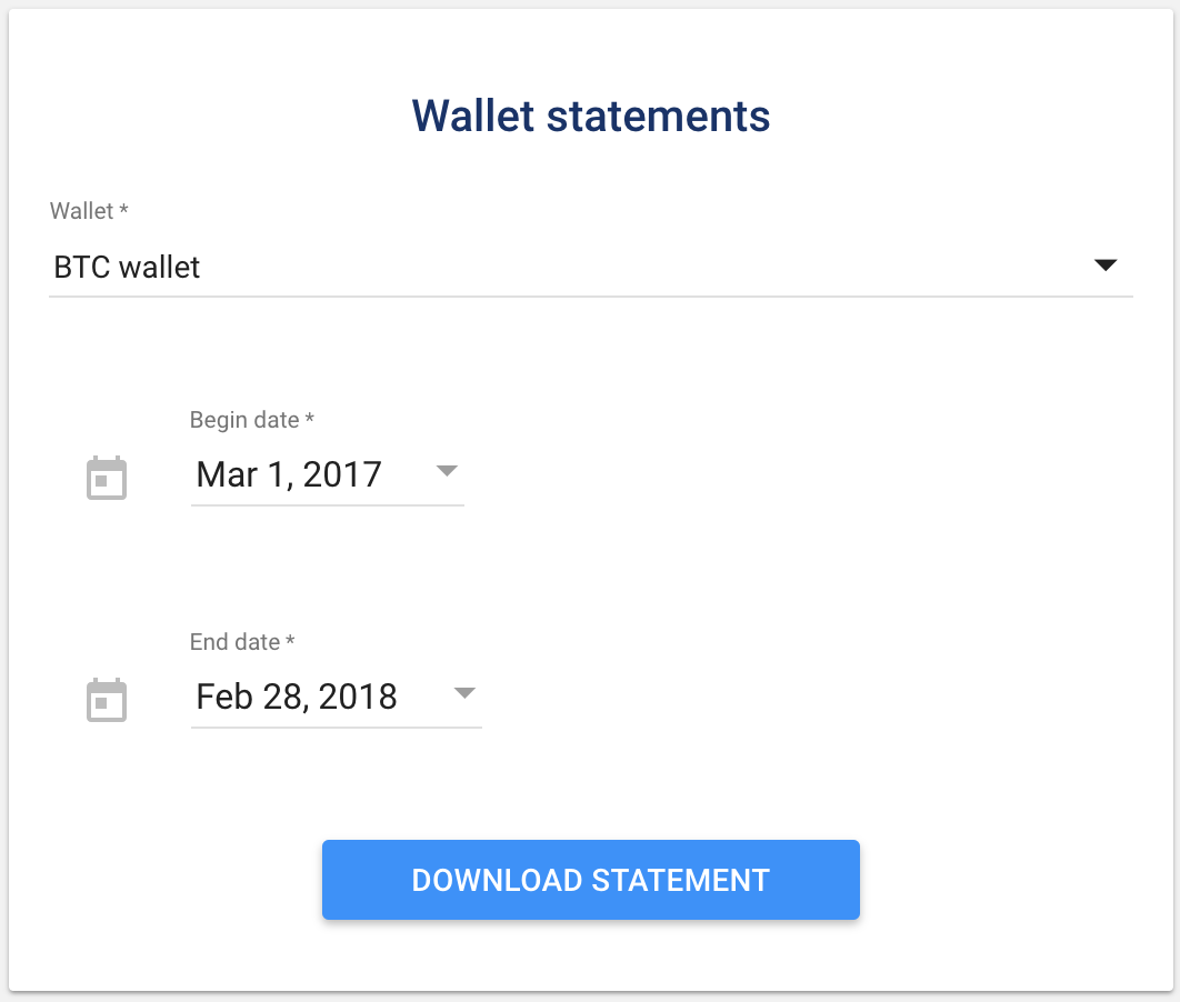 Luno wallet statements