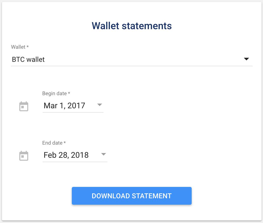 Luno wallet statements
